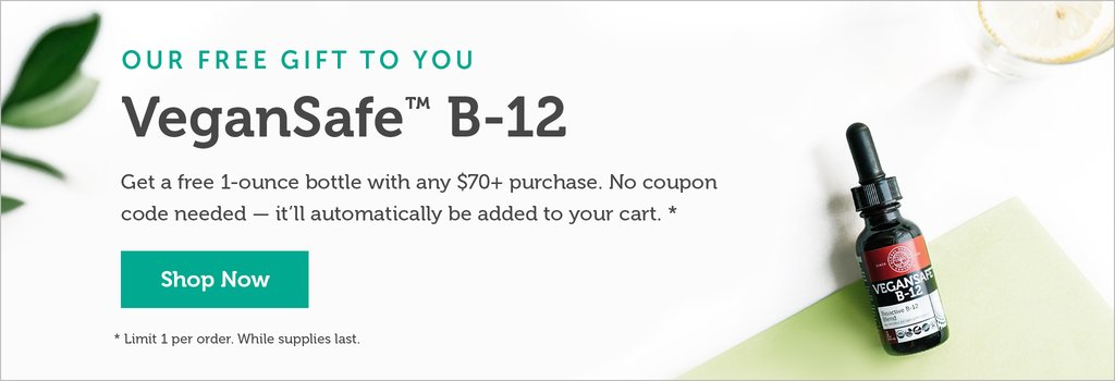 Get a free b12 for orders over $70
