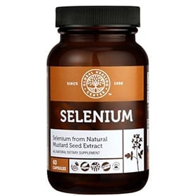 Selenium Plant-Based Selenium Supplement from Mustard Seed 60 capsules bottle