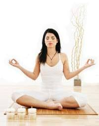 Woman Deep Breathing Exercise Meditation