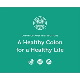 Colon Cleanse Program instructions booklet cover