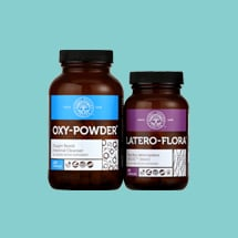 The Colon Cleanse Program includes Oxy-Powder and Latero-Flora