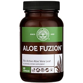 Aloe Fuzion Organic Aloe Vera Supplement 60 capsules bottle
