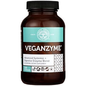 VeganZyme Advanced Digestive & Systemic Enzyme Supplement 120 capsules bottle
