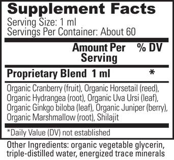Renaltrex Supplement Facts