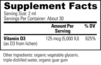 Suntrex D3 Supplement Facts